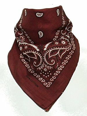 100% Cotton 1pcs, 6pcs or 12pcs Pack Bandanas Original Paisley Pattern