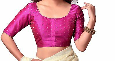 Readymade Designer Saree blouse Dupion Silk Sari Blouse ,Stitched Blouse