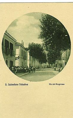 1920ca S. Salvatore Telesino - Benevento - via del progresso - gruss