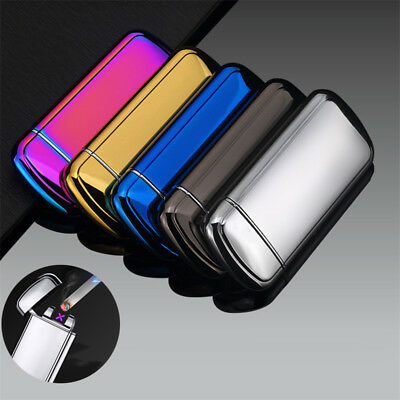Dual Arc Electric USB Lighter Rechargeable Plasma Flameless Cigarette Windproof