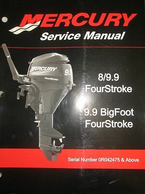 Mercury / Mariner 8 - 9.9 FourStroke Outboard Motor Service Repair Manual CD
