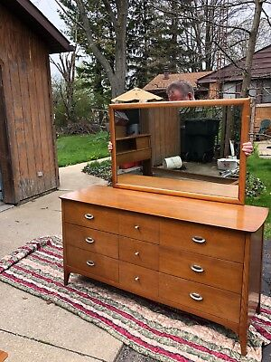 Dixie Bedroom  furniture 1950-60's vintage set. A few scratches.