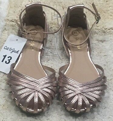 3e4fe7e2c71e CAT   JACK White Sandals With Ankle Strap Size 4 S10 -  18.99