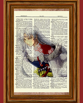 Inuyasha Sesshomaru Anime Dictionary Art Print Poster Picture Manga Book