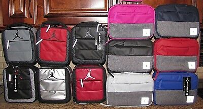 AIR JORDAN NIKE JUMPMAN LUNCH BOX TOTE & PIVOT STYLE Black Red Gray SIlver Blue