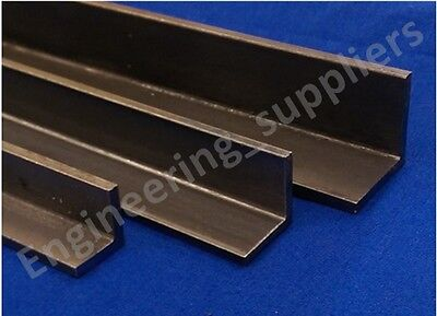 Bright Mild Steel Equal Right Angle 16mm, 20mm, 25mm, 100mm to 600mm Long (EN3B)