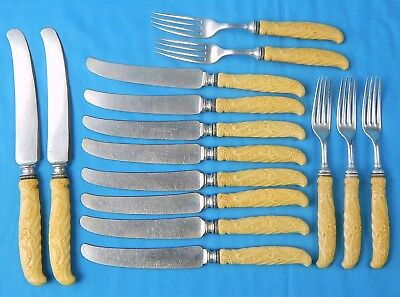 Antique Old US Landers Frary & Clark Aetna Works Cutlery Set Kitchen Knife Fork