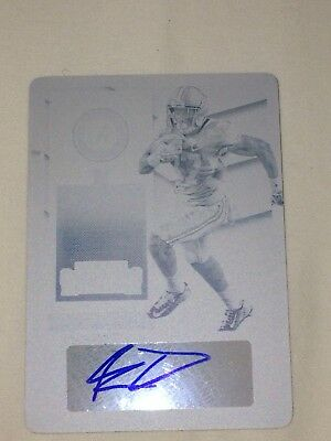 Kenyan Drake Auto RC 2016 Contenders 1/1 Rookie Ticket Printing Plate Autograph