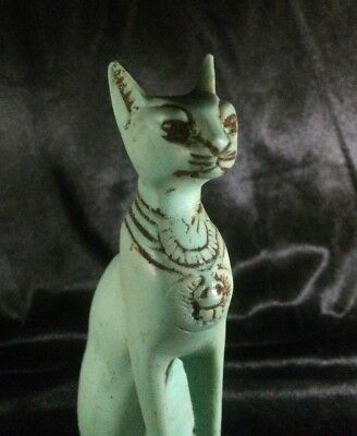 EGYPTIAN Rare ANTIQUE Egypt BASTET Ubasti BAST CAT STATUE Stone Goddess 2890 BC