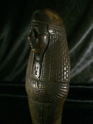 ANCIENT EGYPTIAN Statue ANTIQUE EGYPT USHABTI Shabti PHARAOHS Brouwn STONE BC
