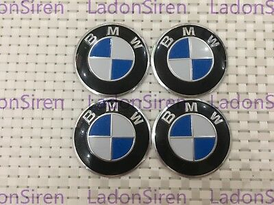 4PCS 60MM Auto Car Wheel Center Hub Caps Decorative accessories Stickers FOR BMW