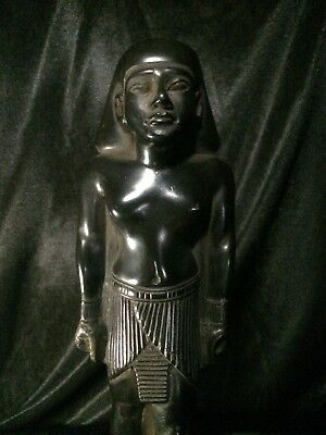 ANCIENT EGYPTIAN EGYPT ANTIQUE Statue Pharaoh King God Carved Basalt Stone BC