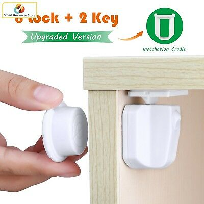 Baby Safety Magnetic Child Proof Cabinet Locks Set Drawers Lock No Tools Needed