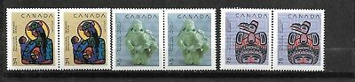 pk35507:Stamps-Canada #1294-1296 Christmas Pairs - Mint Never Hinged