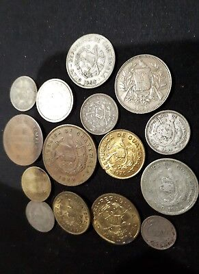 Guatemala coins  vintage some silver