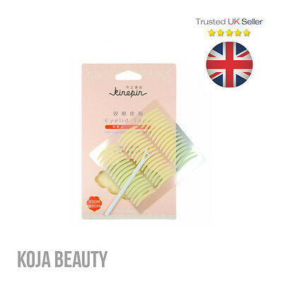 Kinepin Double Eyelid Tape Sticker (240 pcs) Eyelift Hooded Eyes Monolids - UK