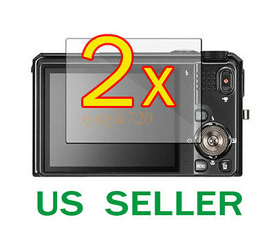 2x Nikon Coolpix S9100 Clear LCD Screen Protector Guard Cover Film