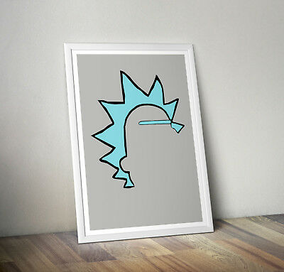 Rick and morty inspired poster print wall art gift merchandise plumbus