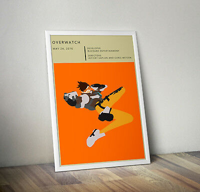 Overwatch inspired poster print wall art decor gamer gaming Tracer blizzard