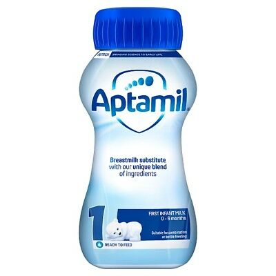 Aptamil First Infant Milk Ready Made from Birth Onwards Stage 1 12 x 200ml