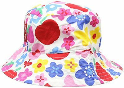 Multicoloured Small Toby Tiger Butterfly Flower Reversible Hat, (vit)