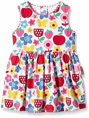 Multicoloured 2-3 Años Toby Tiger Butterfly Flower Summer Party Dress, (jr9)