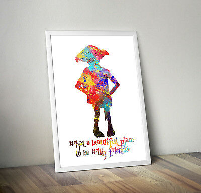 Harry potter poster print wall art decor hogwarts dobby dumbledore snape merch