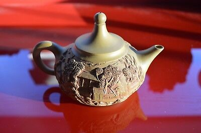 Collectible Tea Pot Hand Carved