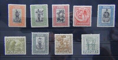 Papua 1932 to 1940 values to 1s MM