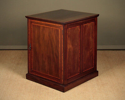 Antique Double Sided Pedestal Cabinet by Waring & Gillow c.1905.