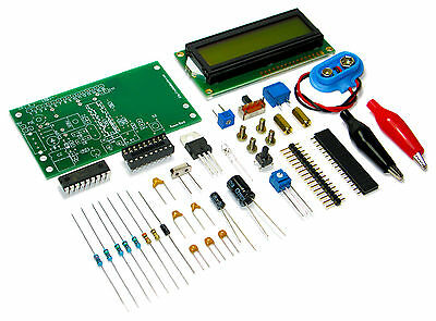 Roman Black High Resolution Capacitance Meter DIY Kit with LCD for soldering