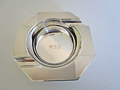 Pair Indian Colonial Silver Ashtrays, Hamilton & Co 1953