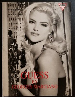 1993 Guess Jeans & Anna Nicole Smith (Print Ad Page Front & Back)