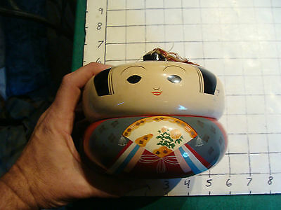 vintage Stacking Rice Bowl, Geisha girl #4, some light wear