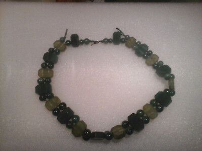 VERY RARE & unusual Antique Choker Jade Necklace late 19th early 20th century.