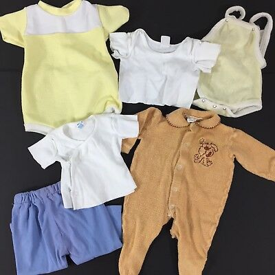 Vintage Lot Baby Boy 1970s Outfits Sleeper Rompers T-Shirts Yellow 3 to 9 Months