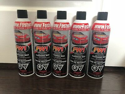 5 Cans Of Fw1 Waterless Detail Cleaner With Carnauba Wax Car Wash