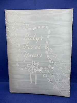 Vintage Baby's First Years - Pale Blue Cloth Cover - Birth to Year 6 - Brand New
