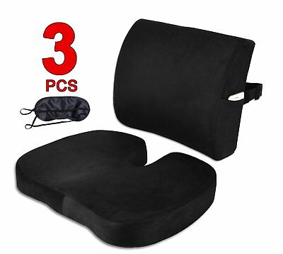Seat Cushion Coccyx Orthopedic Memory Foam and Lumbar Support Pillow for Office