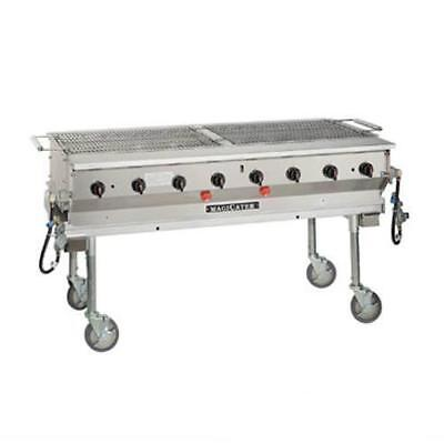 MagiKitch'n - LPG-60-SS - 60 in Magicater Portable Outdoor LP Charbroiler