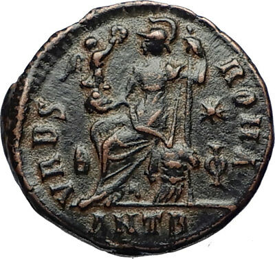 VALENTINIAN II 378AD Antioch Authentic Ancient Roman Coin VRBS ROMA i69489