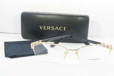 5a00ff119528 VERSACE WOMEN'S GOLD Glasses with case MOD 1230-B 1002 54mm - $87.68 ...
