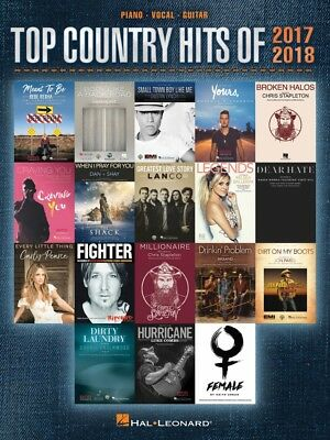 Top Country Hits of 2013-2014 Sheet Music Piano Vocal Guitar SongBook  000125359