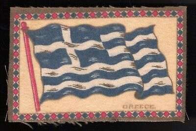 Lot 53: 1910s B7 Flags Felt Blanket -- Greece -- tobacco, cigarettes