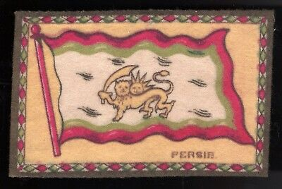 Lot 54: 1910s B7 Flags Felt Blanket -- Persia -- tobacco, cigarettes