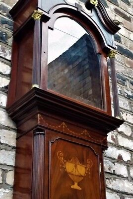 Lancashire, mahogany, colonial style, grandfather longcase clock case only c1780