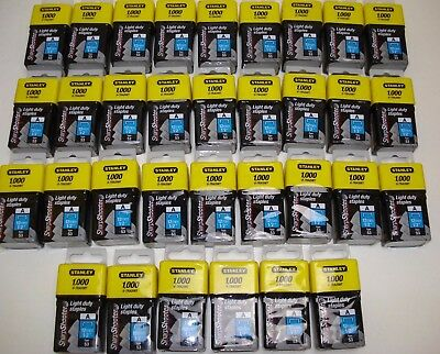 "STANLEY LIGHT DUTY 12mm 1/2"" STAPLES 33 BOXES OF 1000 (33,000) TYPE 53 0-TRA208T"