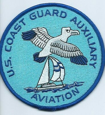 USCG United States Coast Guard Patch Auxiliary Aviation 4 in dia #3411
