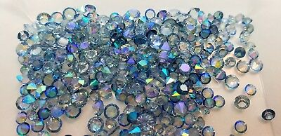 AB Blue 3-4mm Crystals 10pcs Lot for Origami Owl Floating Charm Lockets USA