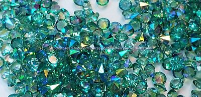 AB Green 3mm-4mm 10pcs-Lot Floating Charm Crystals f/Lockets USA Seller*